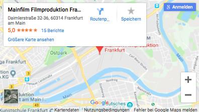 Mainfilm Filmproduktion Frankfurt Anfahrt Google Maps