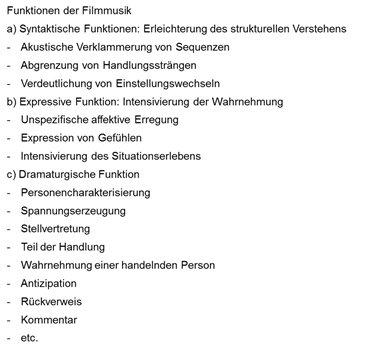 Die Kategorisierung von Filmmusik von Kloppenburg