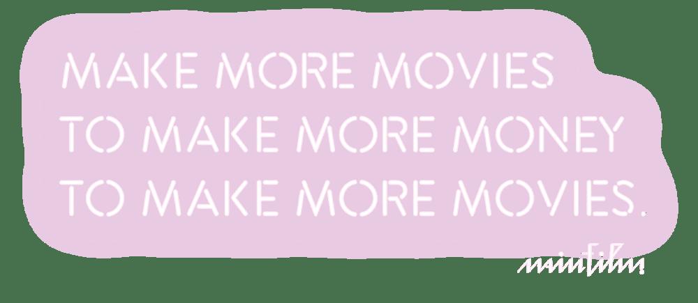 Make More Movies to Make More Money
